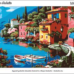 Toscana, mediterrán gobelin alap